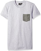 Naked & Famous Denim Men's Heather Grey + Kimono Eye Short Sleeve Pocket Tee Shirt