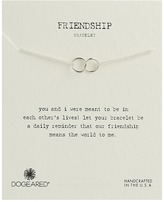 Dogeared Friendship Double Linked Rings Chain Bracelet Bracelet