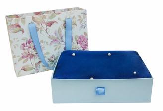 Emartbuy Super Soft Warm Cosy Pearls Shawl Scarf Stole Wrap in Gift Box Blue
