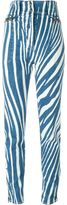 Roberto Cavalli 'Zebra' pants - women - Cotton/Spandex/Elastane - 38