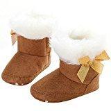 Binmer(TM) Infant Baby Toddler Girl Snow Boots Soft Sole prewalker Crib Shoes (6~12 M, Brown)