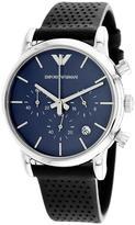 Giorgio Armani AR1736 Men's Classic Blue Leather Watch with Chronograph