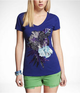 Express Graphic Tee - Hibiscus Floral