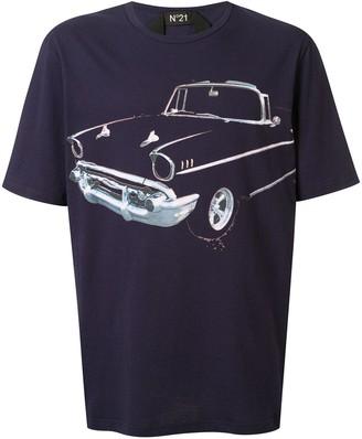 No.21 car print T-shirt