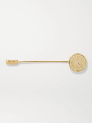 Kingsman + Deakin & Francis Engraved Gold-Plated Lapel Pin