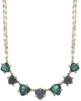 lonna & lilly Gold-Tone Blue Stone Collar Necklace