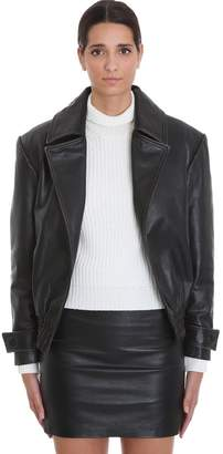 L'Autre Chose Lautre Chose LAutre Chose Leather Jacket In Black Leather