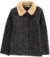 Nice Things Wool Coat with Fur Collar