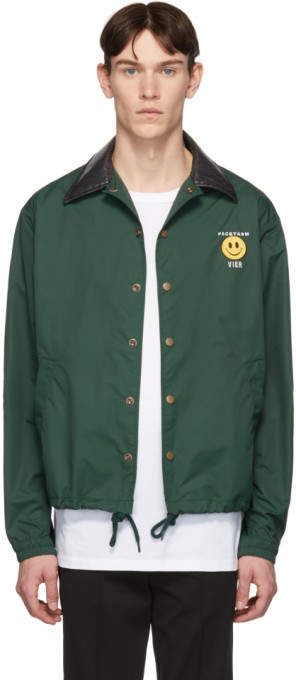 Facetasm Vier Green Edition Smiley Patch Jacket