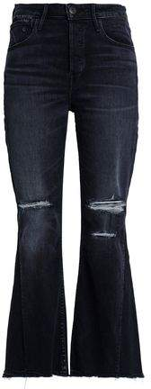 3x1 Distressed High-Rise Kick Flare Jeans
