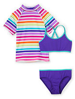 Lands' End Girls Rashguard Three Piece Set-Popsicles