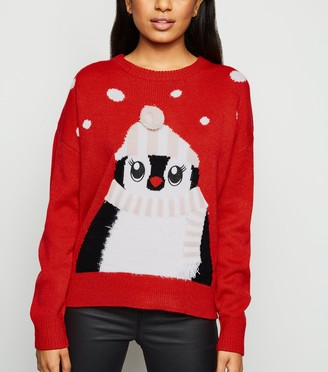 New Look Petite Matching Family Penguin Christmas Jumper