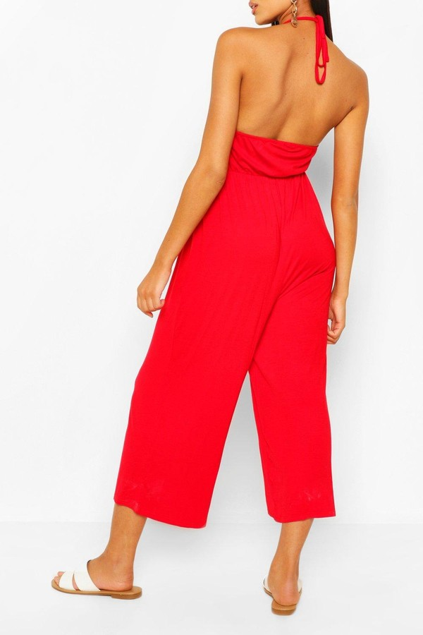 Thumbnail for your product : boohoo Strappy Jersey Jumpsuit