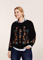 Violeta BY MANGO Floral embroidered sweatshirt