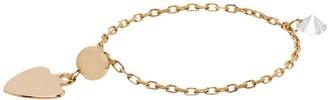 PERSÉE 18kt Yellow Gold Diamond Heart Charm Chain Ring