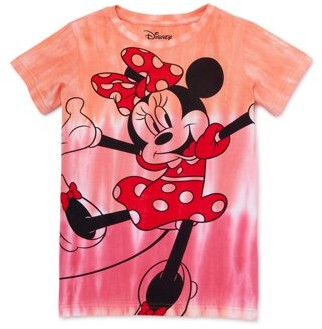 Minnie Mouse Disney Girls Tie Dye Graphic T-Shirt, Sizes 4-16