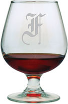 JCPenney 1 Letter Old English Monogrammed Brandy Snifters