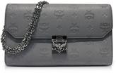 MCM Medium Dove Millie Monogrammed Leather Flap Crossbody Bag