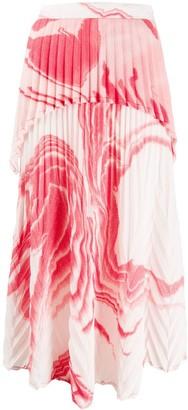 Thebe Magugu Zebramud tie-dye skirt