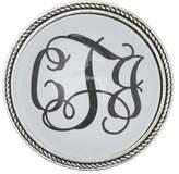 Handmade Designs Silver Monogrammed Brooch