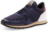 Valentino Rockrunner Mesh Sneaker, Navy