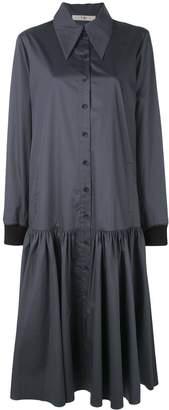 Tibi tech poplin shirt dress