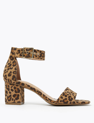 Marks and Spencer Suede Ankle Strap Block Heel Sandals