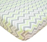 T.L.Care TL Care Cotton Percale Zig Zag Fitted Crib Sheet