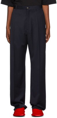Balenciaga Navy Wool Steroid Trousers
