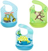 Happy Cherry Water Resistant Removable Baby Bibs, 3 Pack