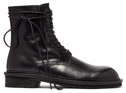 291ee9c5eb3 Lace Up Leather Combat Boots - Mens - Black