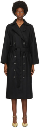 Totême Black Wool Terlago Coat