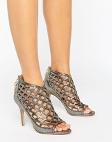 Forever Unique Cynthia Caged Heeled Sandal