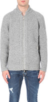 DSQUARED2 Waffle knit alpaca and virgin wool jumper