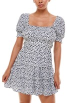 Thumbnail for your product : Trixxi Juniors' Floral-Print Fit & Flare Dress