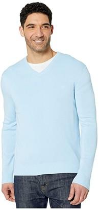 Calvin Klein Cotton Modal Long Sleeve V-Neck (Dark Cliff Heather) Men's Sweater