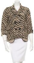 Gryphon Zebra Patterned Double-Breasted Jacket