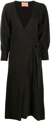 Andamane Longsleeved Wrap Dress