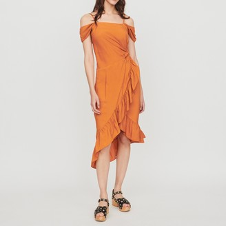 Maje Midi dress with bare shoulders