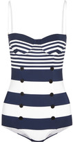 Dolce & Gabbana Striped Swimsuit - Navy
