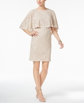 Jessica Howard Petite Glitter Lace Capelet Dress