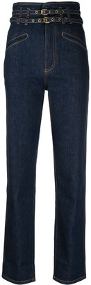 Philosophy di Lorenzo Serafini Belted Straight-Leg Jeans