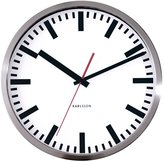 Present Time Karlsson Wall Clock Station Steel Polished