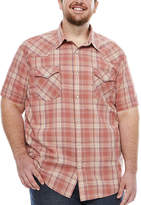 THE FOUNDRY SUPPLY CO. The Foundry Big & Tall Supply Co. Short Sleeve Vintage Button-Front Shirt
