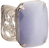 Sorrelli Purple Cat's Eye & Silvertone Bring on the Glamour Ring
