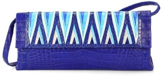 Nancy Gonzalez Gotham Woven Crocodile Clutch