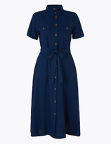 Marks and Spencer Cotton Belted Midi Shirt Dress