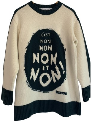Christian Dior Beige Wool Knitwear for Women