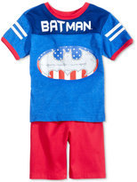 Nannette 2-Pc. Batman Graphic-Print T-Shirt & Shorts Set, Toddler Boys (2T-5T)