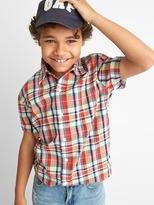 Check plaid short sleeve shirt